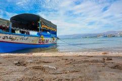 Βάρκα Ιορδανία γυαλιού Στοκ εικόνες με δικαίωμα ελεύθερης χρήσης