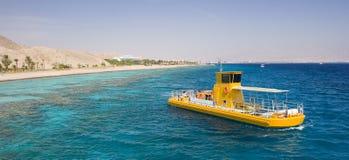 βάρκα κίτρινη Στοκ φωτογραφίες με δικαίωμα ελεύθερης χρήσης