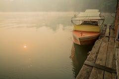 Βάρκα και σύνολο Στοκ Εικόνες