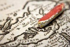 Βάρκα και χάρτης της Ευρώπης Στοκ φωτογραφίες με δικαίωμα ελεύθερης χρήσης