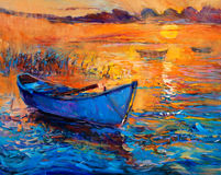 Βάρκα και ωκεανός στοκ εικόνες