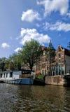 Βάρκα καναλιών του Άμστερνταμ Στοκ εικόνα με δικαίωμα ελεύθερης χρήσης
