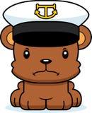 βάρκα κινούμενων σχεδίων καπετάνιοση Bear Στοκ εικόνα με δικαίωμα ελεύθερης χρήσης