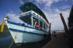 βάρκα κοντά στην αποβάθρα Ταϊλανδός Στοκ εικόνες με δικαίωμα ελεύθερης χρήσης