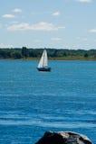 βάρκα λίγο πανί Στοκ Εικόνες