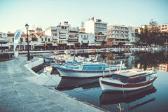 Βάρκα μαρινών βαρκών λιμνών κόλπων ¡ της Ελλάδας Ð ταξιδιών rit Στοκ Εικόνες