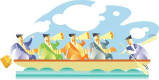 βάρκα μια Διανυσματική απεικόνιση
