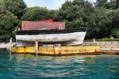 Βάρκα μνημείων στη Βενετία Στοκ Εικόνα