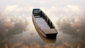βάρκα μόνη Στοκ Εικόνα