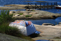 βάρκα παλαιά Στοκ Εικόνες
