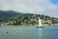 Βάρκα πανιών στον κόλπο Sausalito Richardson στοκ φωτογραφίες με δικαίωμα ελεύθερης χρήσης