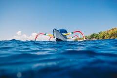 Βάρκα παράδοσης στον μπλε ωκεανό, Μπαλί, Ινδονησία Στοκ φωτογραφίες με δικαίωμα ελεύθερης χρήσης