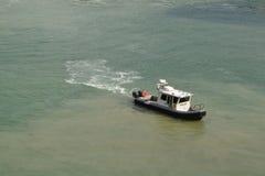 Βάρκα Παρίσι αστυνομίας Στοκ Φωτογραφίες