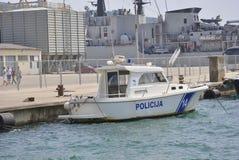 Βάρκα Παρίσι αστυνομίας Στοκ φωτογραφίες με δικαίωμα ελεύθερης χρήσης