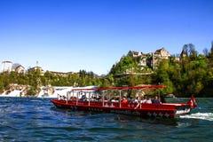 Βάρκα 1 παρατήρησης Rheinfall Στοκ Εικόνες
