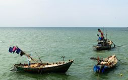 βάρκα παραλιών danang που αλιεύει nam viet Στοκ Φωτογραφίες