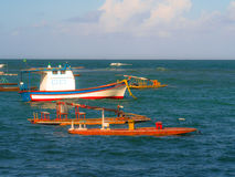 βάρκα παραλιών danang που αλιεύει nam viet στοκ εικόνες