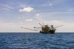 βάρκα παραλιών danang που αλιεύει nam viet Στοκ Εικόνα