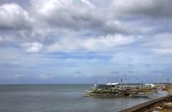βάρκα που αλιεύει μικρό ξύ&lam στοκ εικόνες