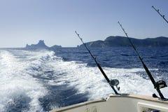 βάρκα που αλιεύει τη μεσ&o Στοκ Εικόνες