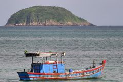 βάρκα που αλιεύει το Βιετνάμ Στοκ Εικόνες