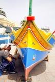 βάρκα που αλιεύει Μαλτέζο Στοκ φωτογραφίες με δικαίωμα ελεύθερης χρήσης