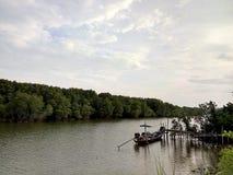 βάρκα που αλιεύει Ταϊλαν& Στοκ εικόνα με δικαίωμα ελεύθερης χρήσης