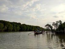 βάρκα που αλιεύει Ταϊλαν& Στοκ φωτογραφία με δικαίωμα ελεύθερης χρήσης