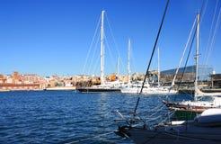 βάρκα που δένεται Στοκ Φωτογραφίες
