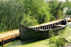 βάρκα που δένεται Στοκ Φωτογραφία