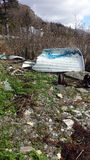 βάρκα που σπάζουν Στοκ Φωτογραφίες