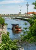 βάρκα Πράγα Στοκ Εικόνες