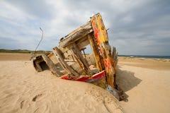 Βάρκα στα λαγούμια Braunton στοκ εικόνες
