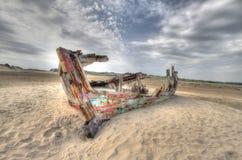 Βάρκα στα λαγούμια Braunton στοκ φωτογραφία με δικαίωμα ελεύθερης χρήσης