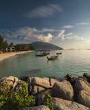 Βάρκα στην ανατολή Νησί Lipe Ko στοκ εικόνα με δικαίωμα ελεύθερης χρήσης