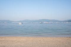 Βάρκα στην εσωτερική θάλασσα κοντά στη Χιροσίμα, Ιαπωνία Στοκ Εικόνα