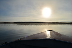 Βάρκα στην ομίχλη Στοκ Φωτογραφία