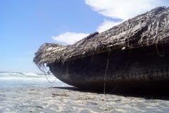 Βάρκα στην παραλία kovalam Στοκ εικόνα με δικαίωμα ελεύθερης χρήσης