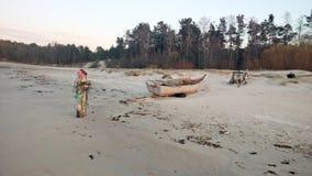 Βάρκα στην παραλία Στοκ Φωτογραφία