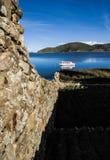 Βάρκα στη λίμνη Titicaca Στοκ φωτογραφία με δικαίωμα ελεύθερης χρήσης