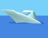 Βάρκα στη θάλασσα Διανυσματική απεικόνιση