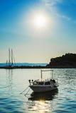 Βάρκα στη θάλασσα Στοκ Εικόνα