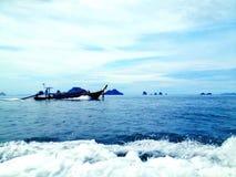 Βάρκα στη θάλασσα Στοκ Φωτογραφίες