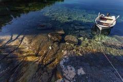 Βάρκα στον αδριατικό κόλπο Στοκ φωτογραφία με δικαίωμα ελεύθερης χρήσης