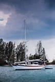 Βάρκα στον κόλπο Στοκ Εικόνα