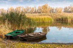 Βάρκα στους καλάμους Στοκ Φωτογραφίες