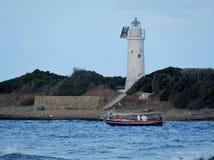 Βάρκα στο νησί Licosa Στοκ φωτογραφία με δικαίωμα ελεύθερης χρήσης
