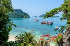 Βάρκα ταξιδιού Koh Mae Ko Στοκ εικόνα με δικαίωμα ελεύθερης χρήσης