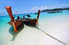 βάρκα Ταϊλάνδη παραλιών Στοκ Εικόνες
