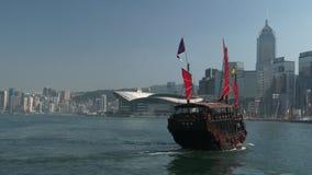 Βάρκα της Luna Aqua στο Χονγκ Κονγκ, Κίνα απόθεμα βίντεο